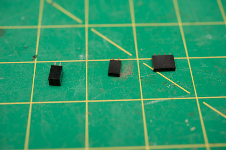 Various header pins 2 and 4 pin variants. Super useful in prototyping.