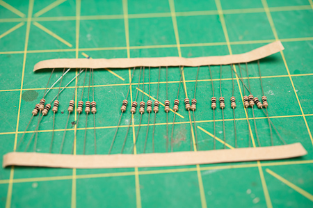 Resistor Sheet. Always a good idea to have plenty on hand